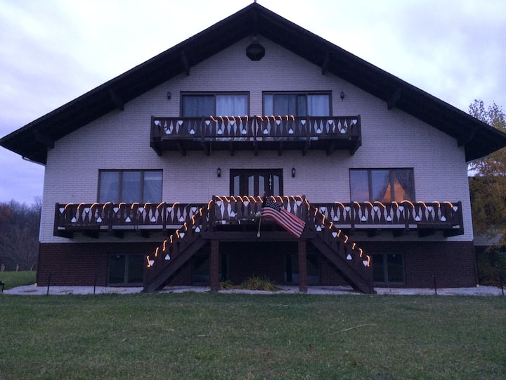 Susec Chalet, Winery, Pond and Vineyard
