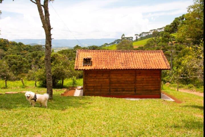 Cabana Pastor, WiFi, Lareira, TV Trilhas e Riacho.