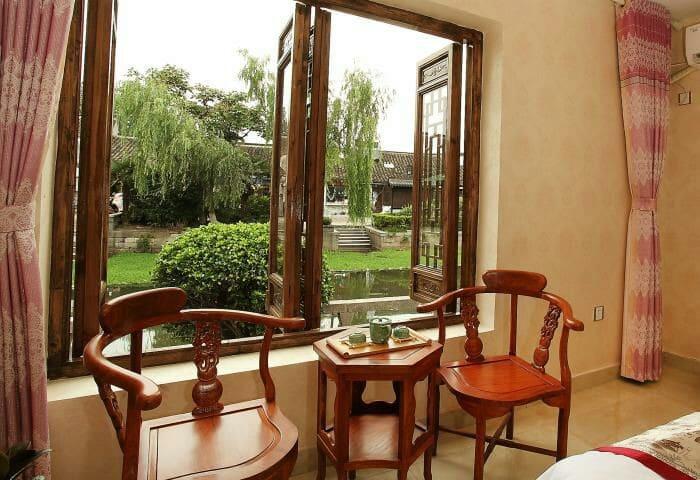 西塘古镇临河宅院(临河观景露台+三间卧室) - Jiaxing - Hus
