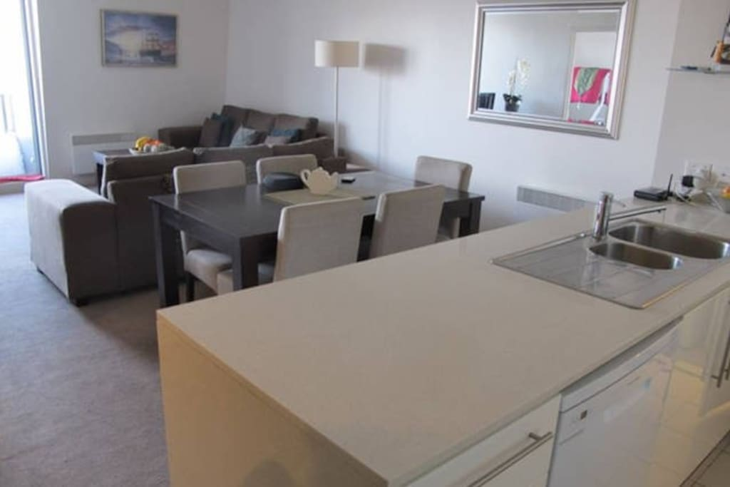 Comfortable open plan living areas
