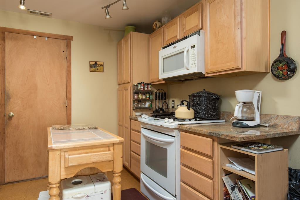 A clean kitchen to cook in.
