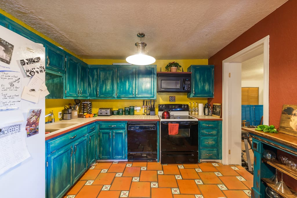 The kitchen is well equipped and available for your use.