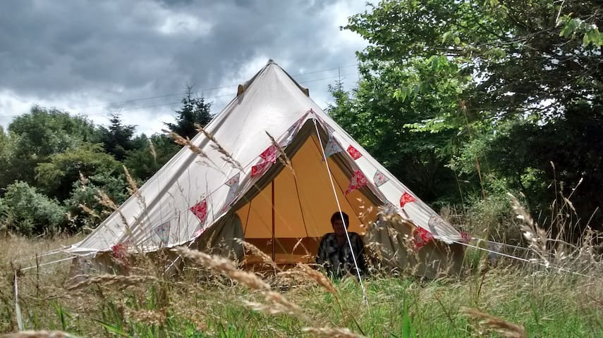 Magic mountain view 5m Bell tent in private field