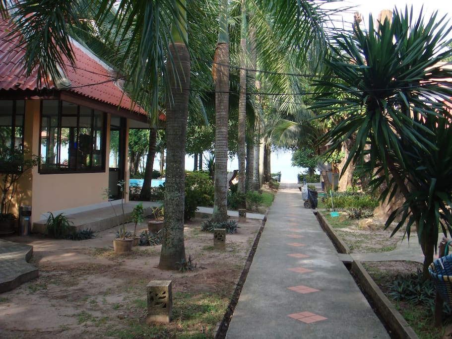 Rest area and garden