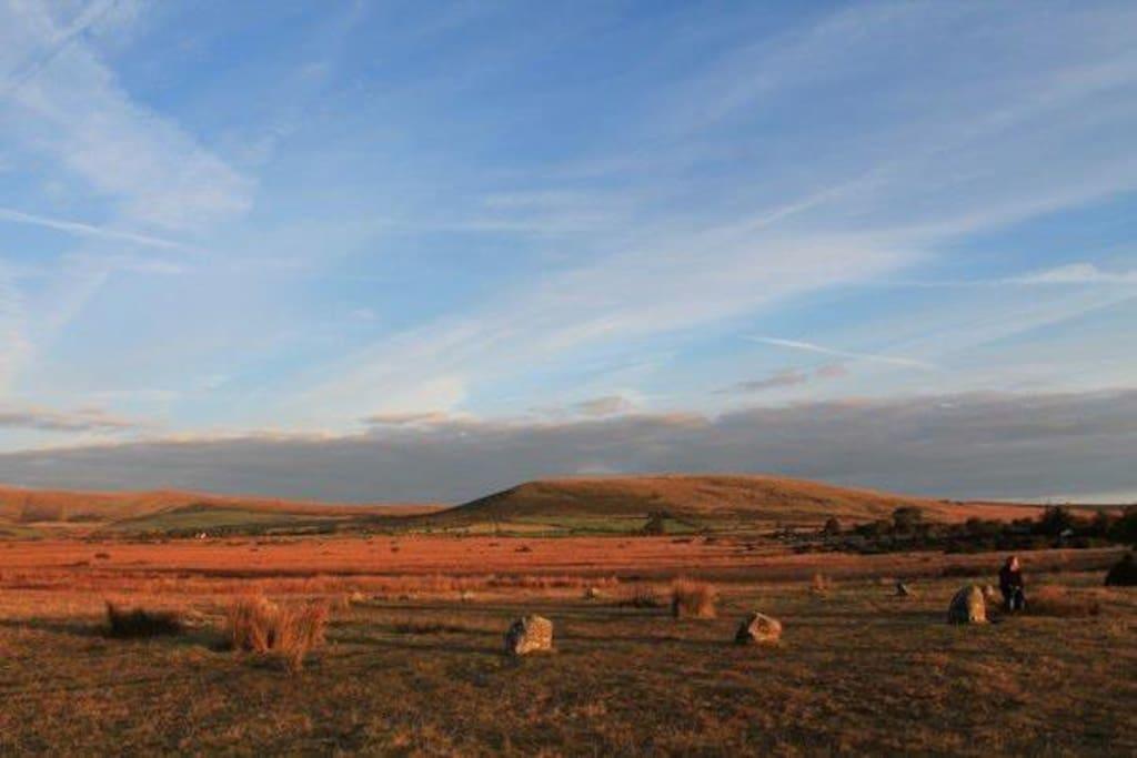 Gors Fawr stone-circle just 5 minutes walk away...