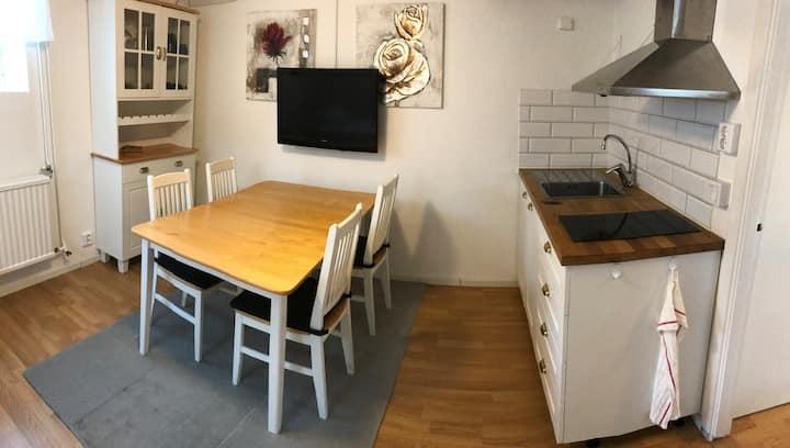 Nyrenoverad källarlgh,27m2,egen ingång,kök,bad-...