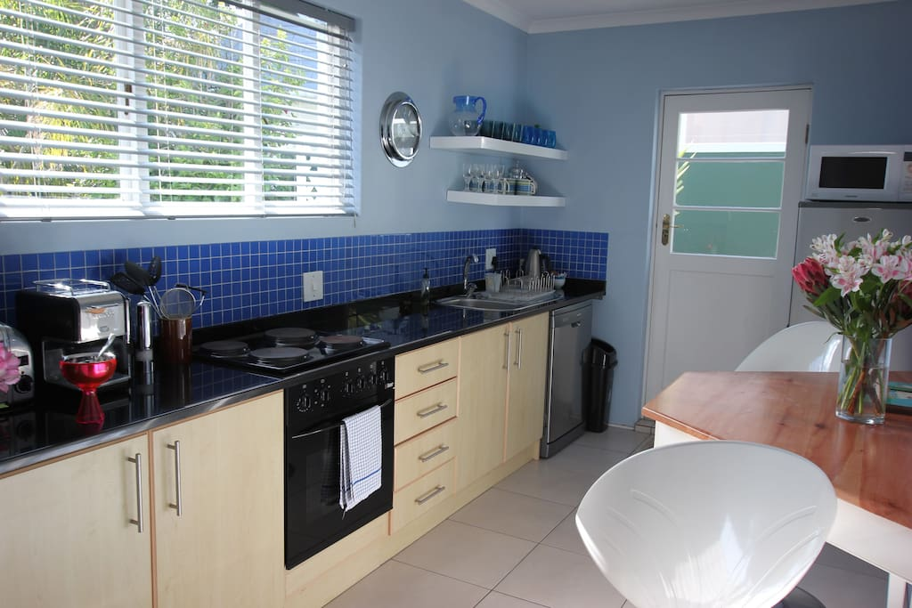 Eat in kitchen, oven and hob, fridge freezer, all you need.