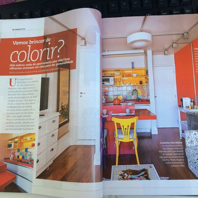 Article at Casa & Construção magazine featuring this flat (August 2015).