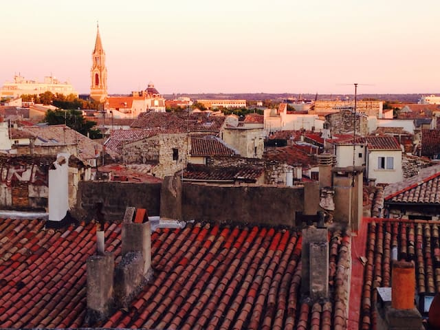 Se pauser au centre ville ... - Nîmes - Wikt i opierunek