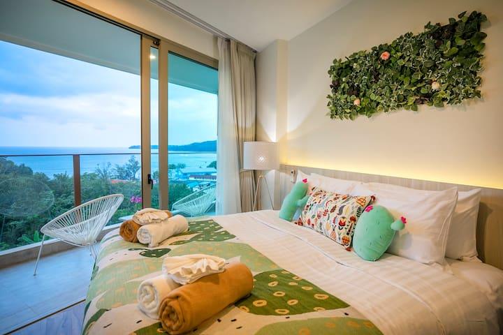 (G)Best Seaview Room 45sqm 300 Meters To The Beach