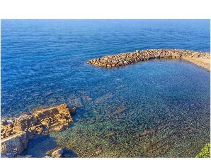 A magic spot on the Italian Riviera.Garden seaview