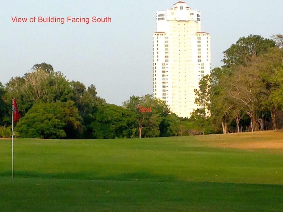 View of Coronado Golf Building from Golf Course