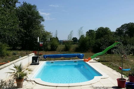 Typical nice country House + Pool - Deux-Chaises