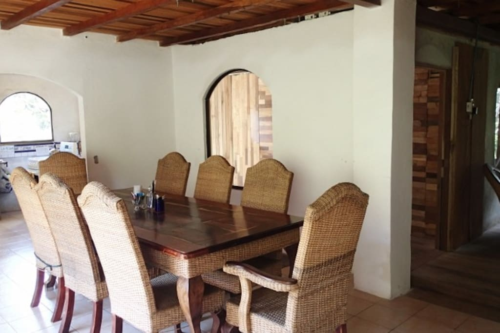 You will have access to the fully equipped kitchen and spacious dining area.