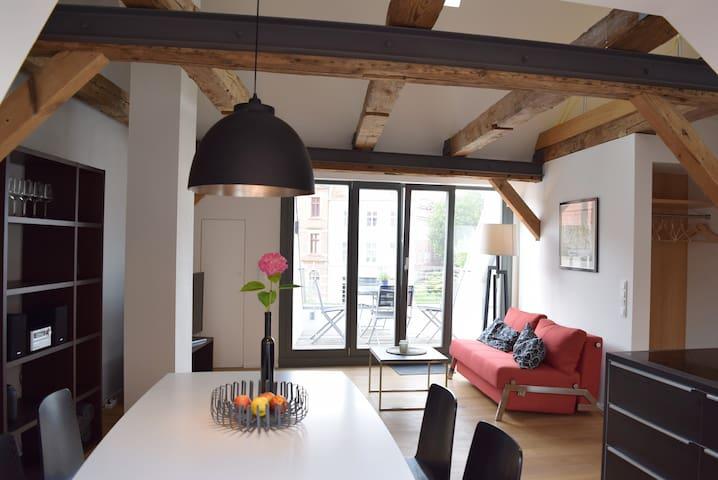Appartement Jakobi mit Dachterrasse - Stralsund - Appartement