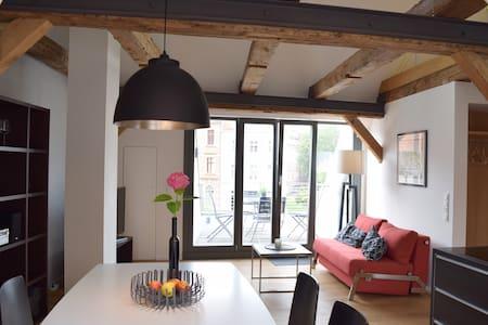 Appartement Jakobi mit Dachterrasse - Stralsund - Apartemen