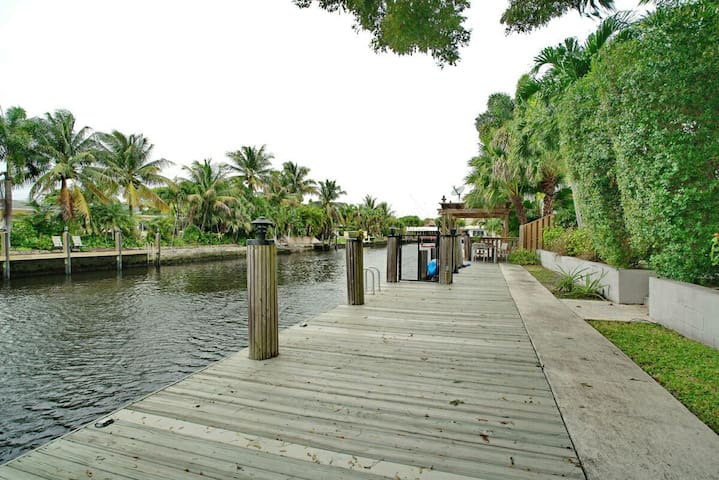 Take in the view of the water from the private dock or rent a powerboat to cruise the intercoastal waterway