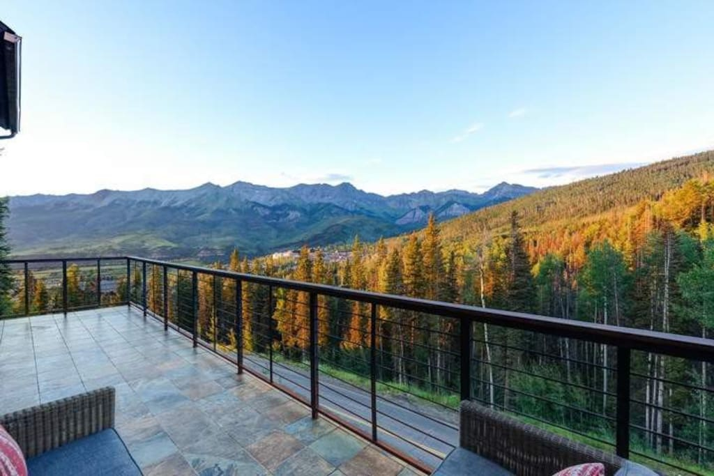 You may not want to leave your private balcony when you see this view for yourself.