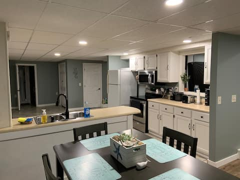 Newly renovated private lower level apartment
