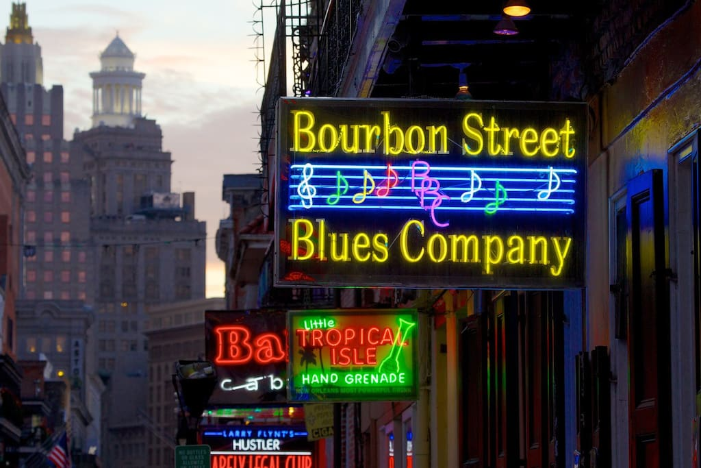Three blocks to Bourbon Street!