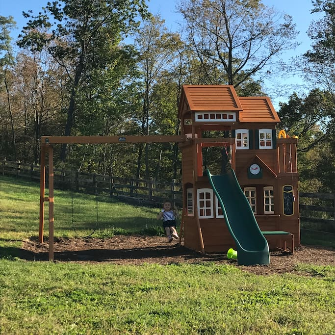 Swing set/playhouse