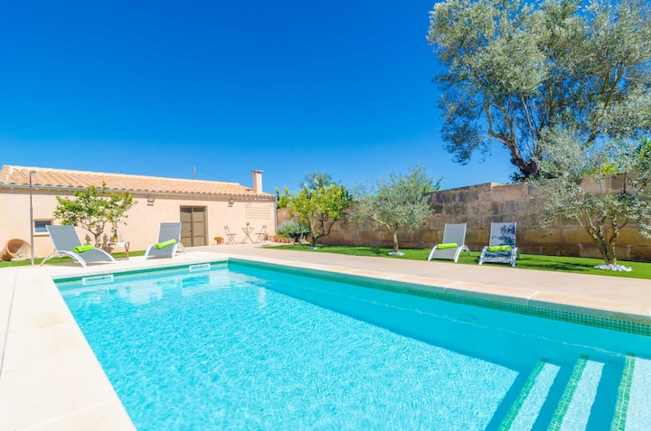 CA SES NINES - Cosy townhouse with private pool in inland Majorca. Free WiFi