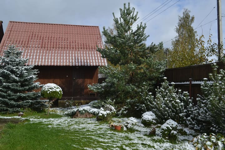 Двухэтажный дом из бруса с финской сауной - Полесье Снт (манихино) - House
