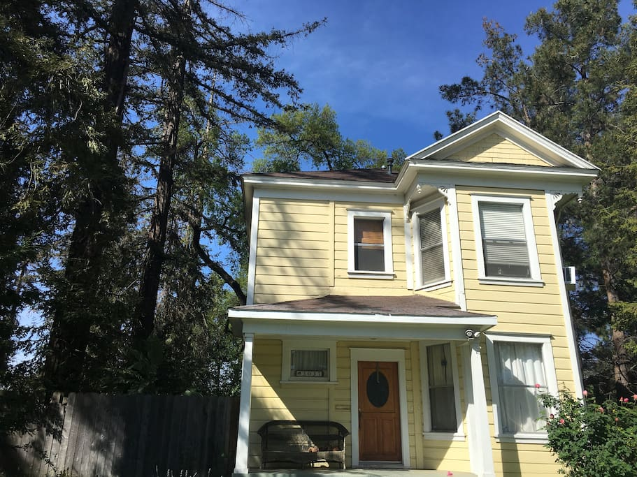 Flat is located on the second floor of Victorian home built in 1908.  Access is through a shared front entry and up a beautiful two story staircase.