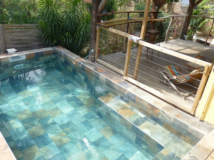 Ecolodge avec piscine privative au sel