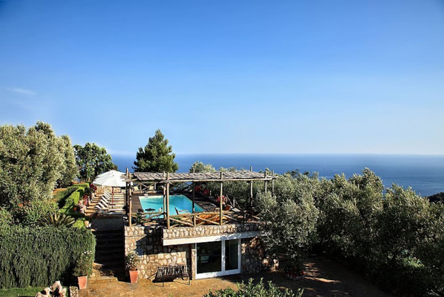 Panoramic property view with sea view
