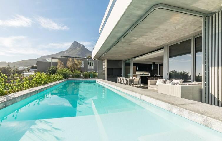 Contemporary Designer Camps Bay Villa with Pool