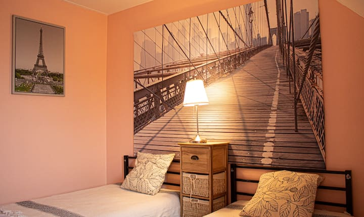 Saint-Denis: appartement vue mer et montagne