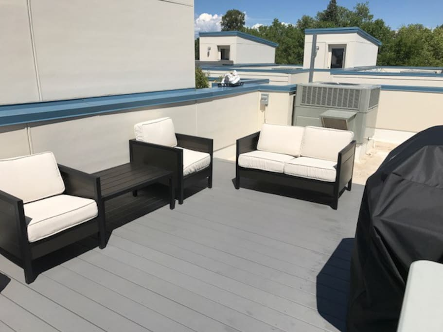 Roof Top Lounge Furniture and Weber Grill