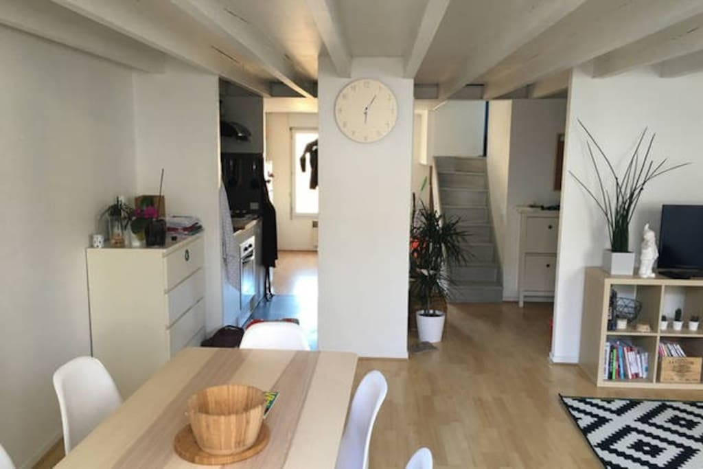 Chambre double dans beau duplex bordeaux centre for Appartement bordeaux centre a louer