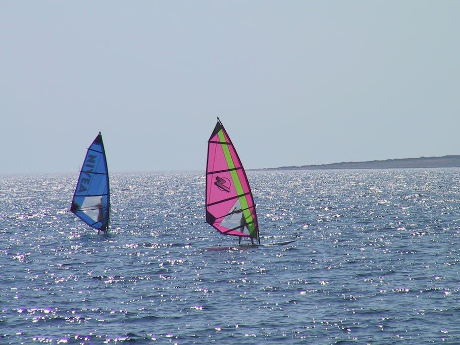 Sea activities.