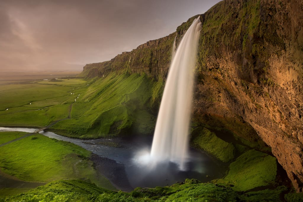 Want to walk behind a waterfall? Seljalandsfoss is only 20 minutes away.