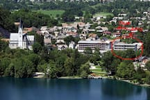 """""""Jure and Natalija have a wonderfully located apartment for handy access to Bled's lively summer scene. Terrific hosts!"""" by guest Leo"""
