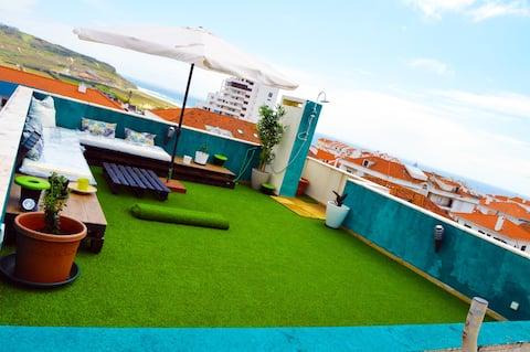 Terraço d'Areia, Beach Apartment w Rooftop Terrace