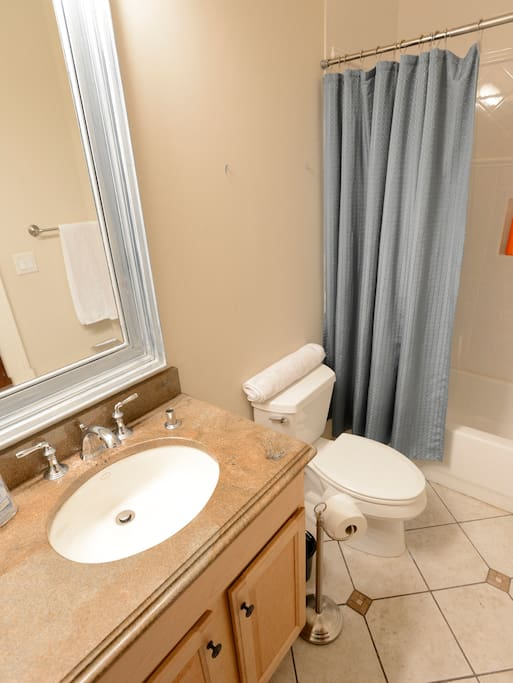 Your own private ensuite bath with a full tub.