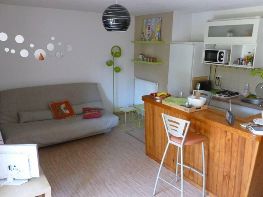 Canapé-lit de 160 cm ; confort Bultex