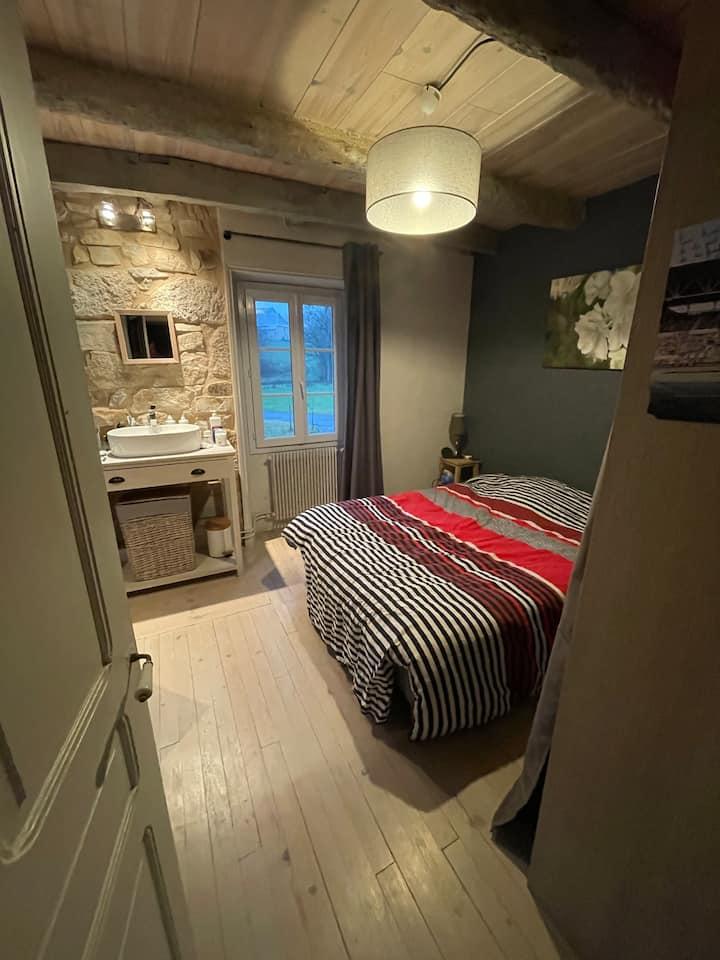 «Jolies chambres pour pause détente»