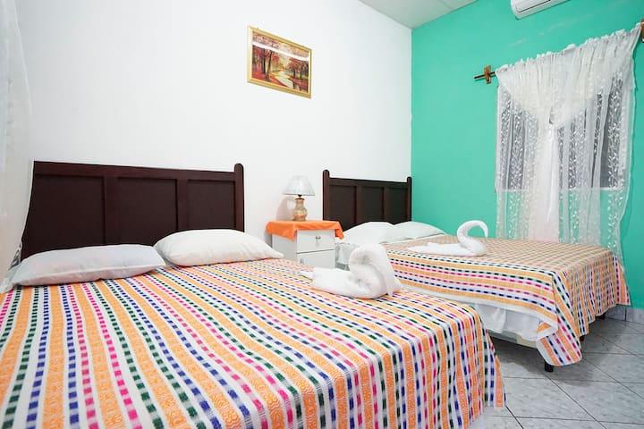Room at El Remate, near Tikal