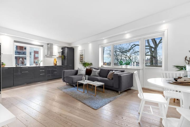 Moderne, og romslig leilighet sentralt i Oslo