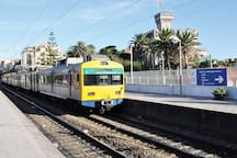 Few minutes walk to the train station that connects you to Lisbon in minutes