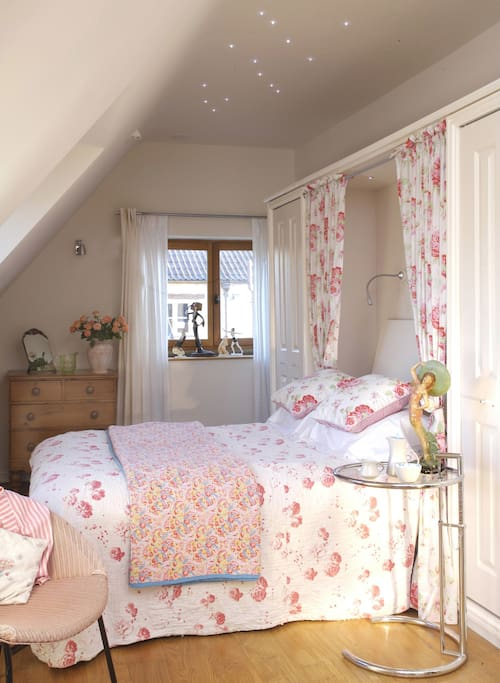 The Dovecote is a quaint Self-Catering Studio Cottage that has a double bed and a sofa bed, allowing up to 4 people to sleep in the studio.