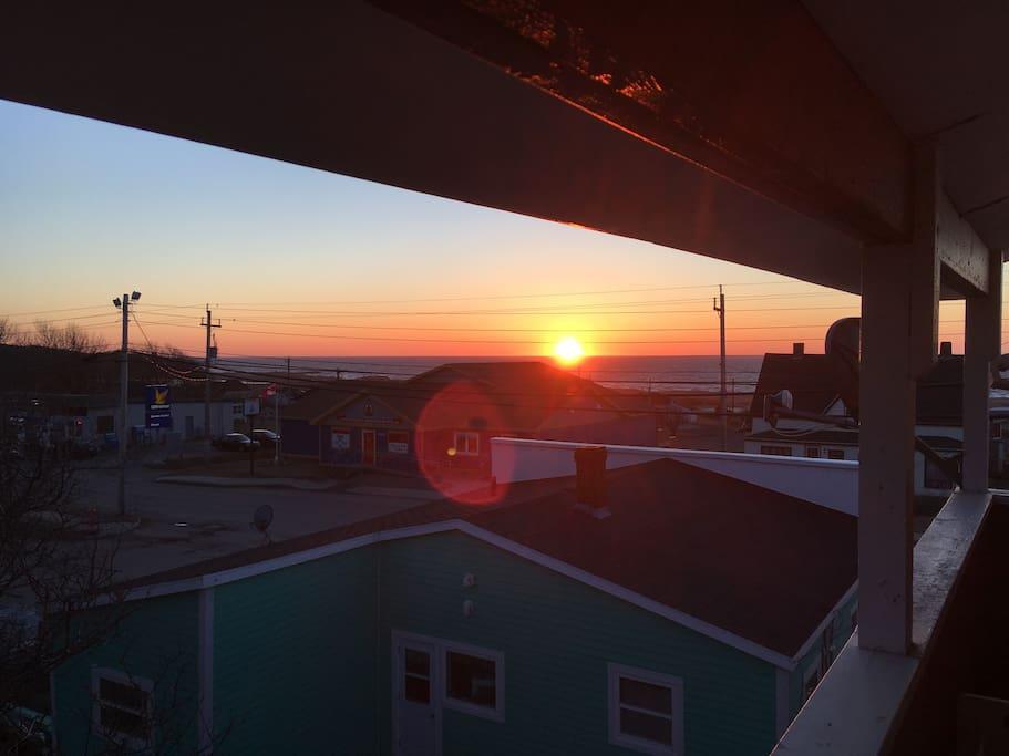 Sunset from the veranda