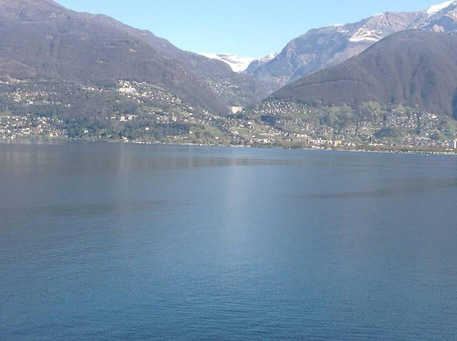 Aussicht Richtung Verzasca-Staudamm