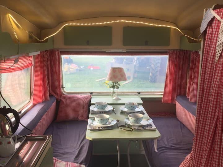 Agnus the pretty vintage caravan