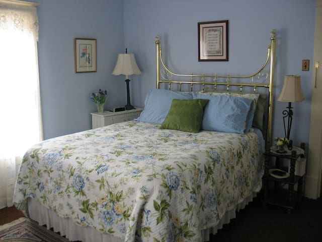 This is the Blue Room.  People rave about the comfy queen size bed in this room.