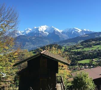 Mazot en Duplex face au Mont Blanc - Cordon - Chalet